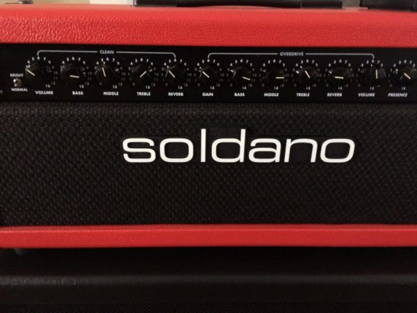 Soldano Lucky 13 Tube Amp Custom Red Tolex