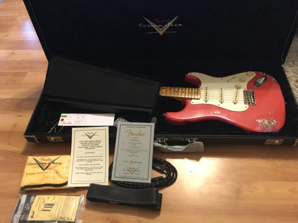 IMG 8140 600x450 - 2016 Fender Custom Shop Stratocaster Limited Edition '57 Heavy Relic Fiesta Red/Pink Paisely