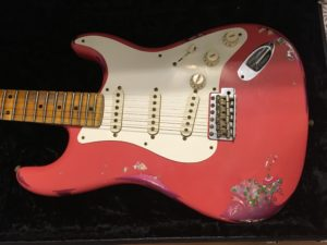 IMG 8145 300x225 - 2016 Fender Custom Shop Stratocaster Limited Edition '57 Heavy Relic Fiesta Red/Pink Paisely