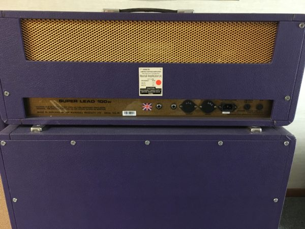 IMG 9005 600x450 - 1994 Marshall Limited Edition Purple 1959 SLP Hendrix Full Stack
