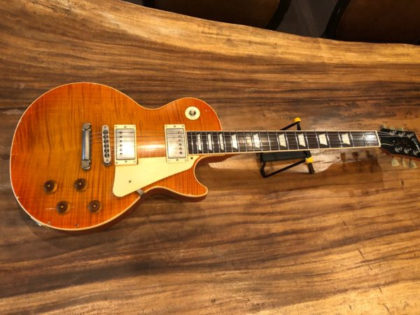 FullSizeRender 1 2 600x450 - Bill Nash Les Paul Standard Plus Relic-Honey Flame Top-New!