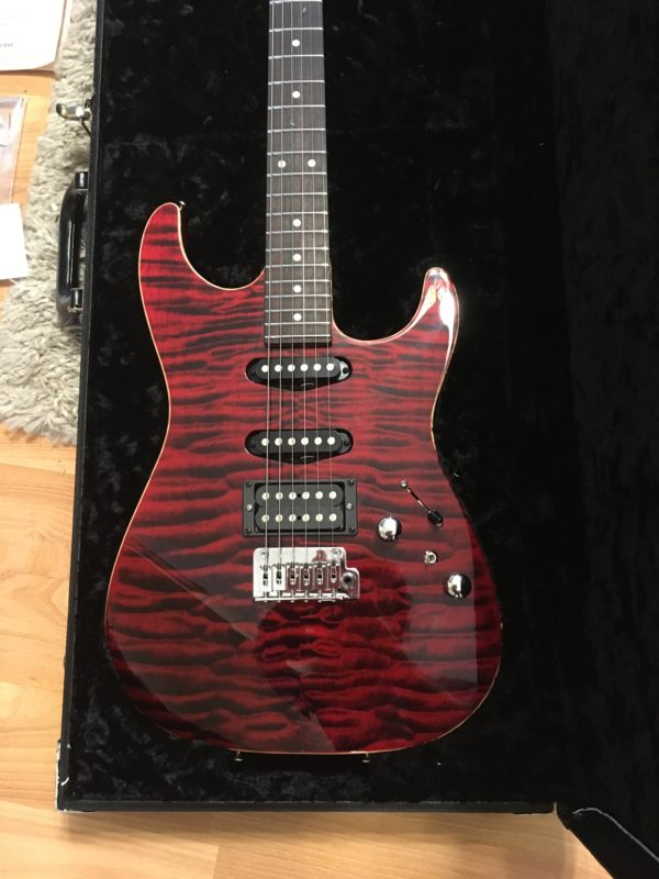 IMG 9894 e1542050293310 600x800 - 2014 Tom Anderson Drop Top Guitar-Killer Canjun Red Quilt Top