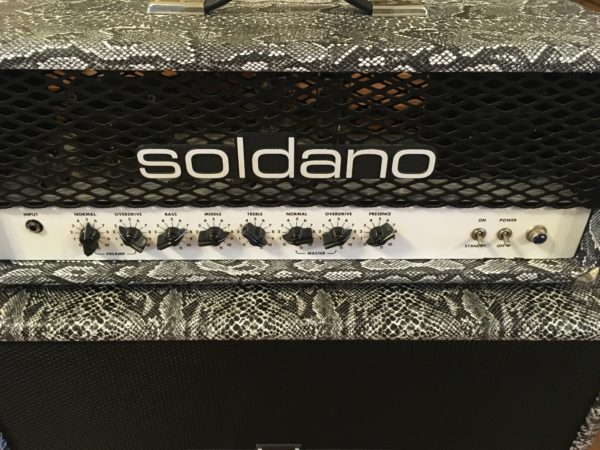 IMG 0117 600x450 - Soldano Hot Rod 50+ Plus Tube Guitar Amp Rare Black-n-White Boa W/Matching 2x12 Cab