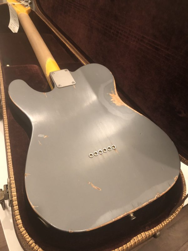 IMG 2107 e1544899049661 600x800 - 2018 Nash T-63 Telecaster Heavy Relic Charcoal Frost Guitar