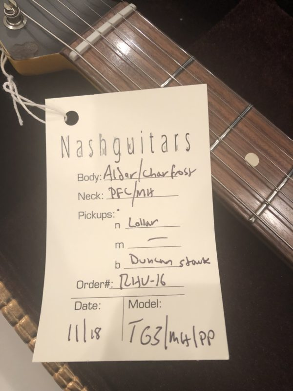 IMG 2110 e1544899077633 600x800 - 2018 Nash T-63 Telecaster Heavy Relic Charcoal Frost Guitar