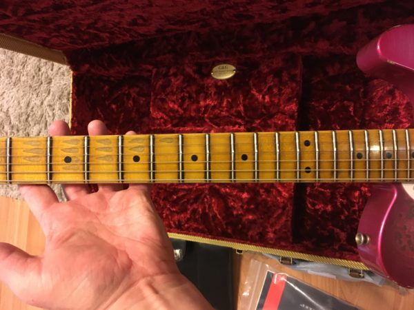 IMG 0430 600x450 - 2018 Fender Custom Shop '50s Relic Thinline Telecaster Custom Built Namm Limited Edition  Pink Paisley