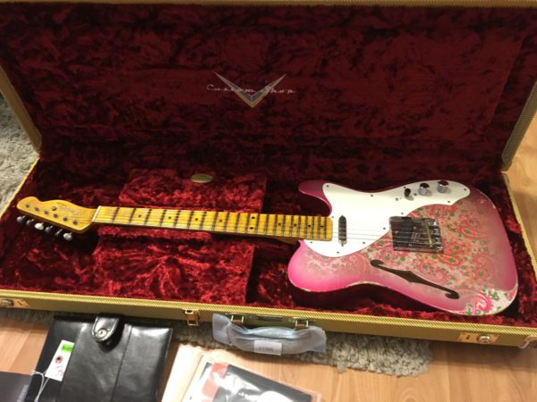 IMG 0431 600x450 - 2018 Fender Custom Shop '50s Relic Thinline Telecaster Custom Built Namm Limited Edition  Pink Paisley