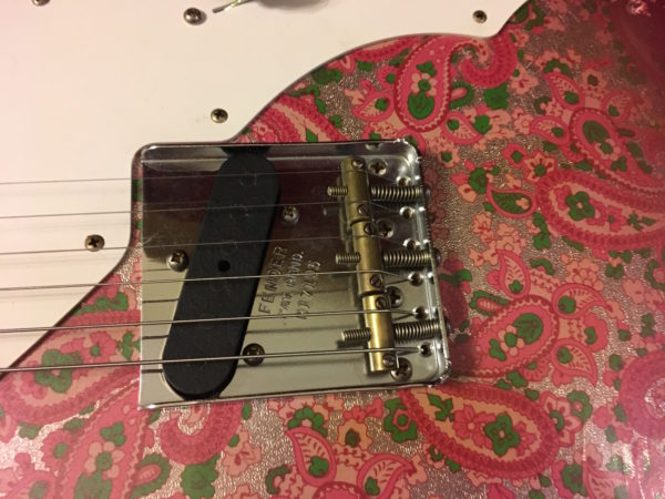 IMG 0439 600x450 - 2018 Fender Custom Shop '50s Relic Thinline Telecaster Custom Built Namm Limited Edition  Pink Paisley