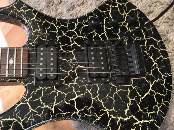 IMG 0529 600x450 - Rare 80's BC Rich NJ Series Firecrackle Virgin Guitar W/Reverse Headstock