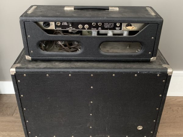 IMG 0567 600x450 - 1964 Tremolux head With matching 2x10 cabinet AB763