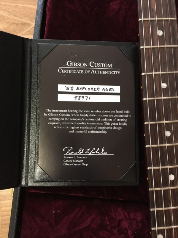 IMG 0815 e1552576633369 600x800 - 2018 Gibson Custom Shop 58 Explorer Clapton Cut Heavy Aged Faded Cherry COA/Case
