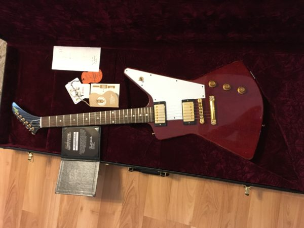 IMG 0821 600x450 - 2018 Gibson Custom Shop 58 Explorer Clapton Cut Heavy Aged Faded Cherry COA/Case