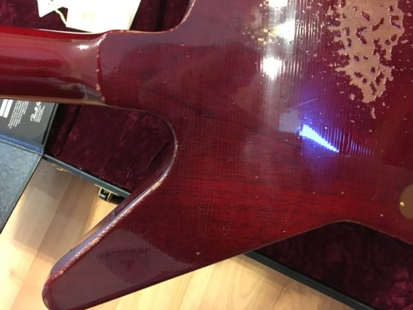 IMG 0828 600x450 - 2018 Gibson Custom Shop 58 Explorer Clapton Cut Heavy Aged Faded Cherry COA/Case
