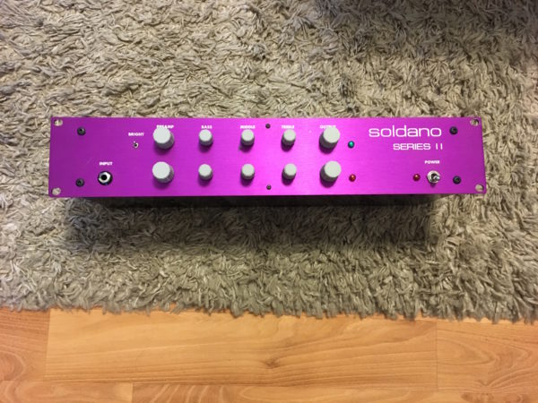 IMG 1010 600x450 - Soldano SP 77 Tube Guitar Preamplifier Purple Series II