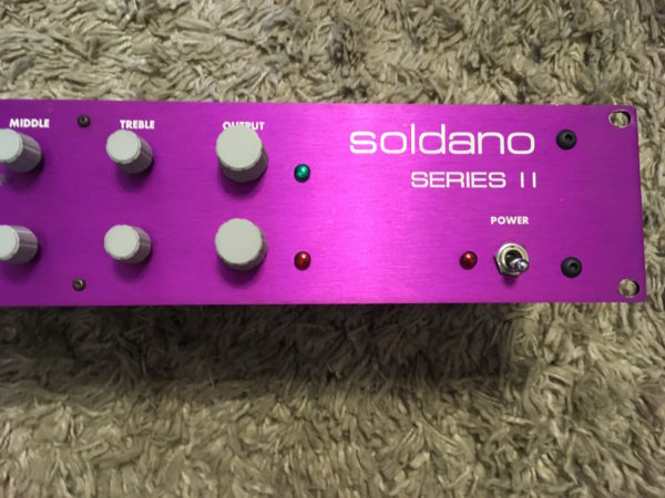 IMG 1011 600x450 - Soldano SP 77 Tube Guitar Preamplifier Purple Series II