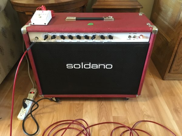 IMG 1128 600x450 - Soldano ROS Reverb O Sonic 2x12 Combo Tube Amp-Red Tolex