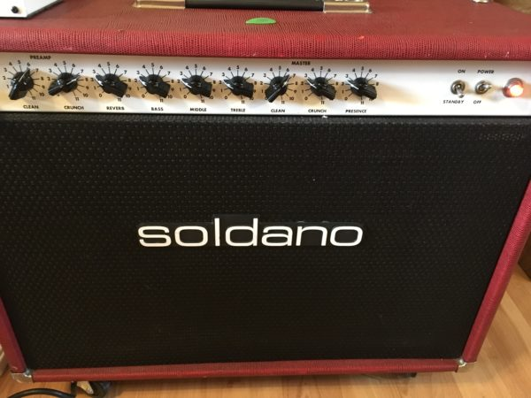 IMG 1129 600x450 - Soldano ROS Reverb O Sonic 2x12 Combo Tube Amp-Red Tolex