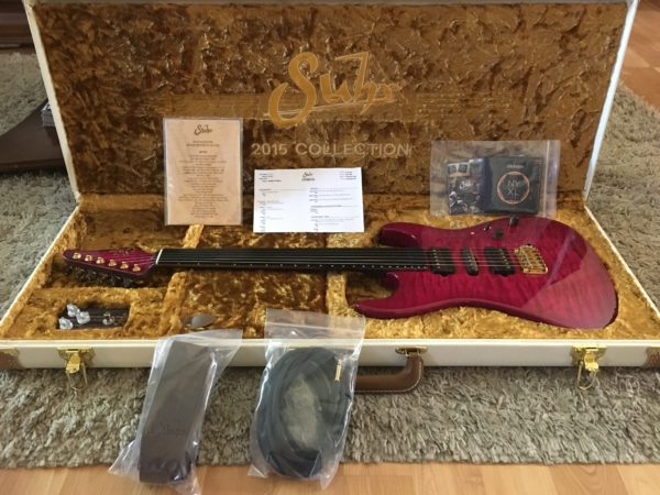 IMG 1360 600x450 - Suhr 2015 Collection Standard Quilt Maple Magenta Burst