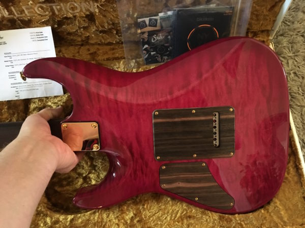 IMG 1369 600x450 - Suhr 2015 Collection Standard Quilt Maple Magenta Burst