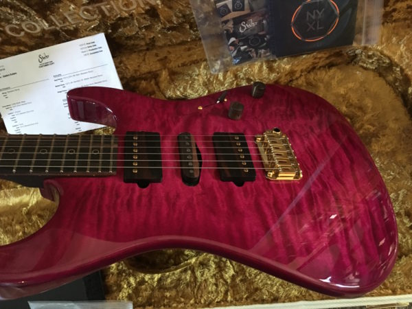 IMG 1374 600x450 - Suhr 2015 Collection Standard Quilt Maple Magenta Burst