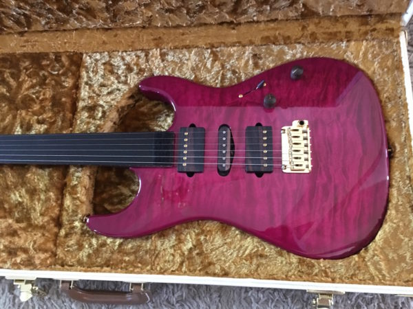 IMG 1376 600x450 - Suhr 2015 Collection Standard Quilt Maple Magenta Burst