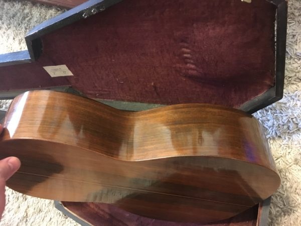 IMG 1472 600x450 - Vintage 1850's CF Martin New York 3 17 Parlor Guitar Brazilian Rosewood Coffin Case