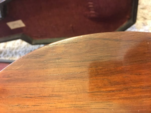 IMG 1475 600x450 - Vintage 1850's CF Martin New York 3 17 Parlor Guitar Brazilian Rosewood Coffin Case