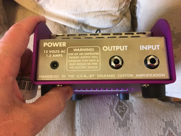 IMG 1493 600x450 - Soldano Supercharger GTO Tuber Overdrive Pedal Purple
