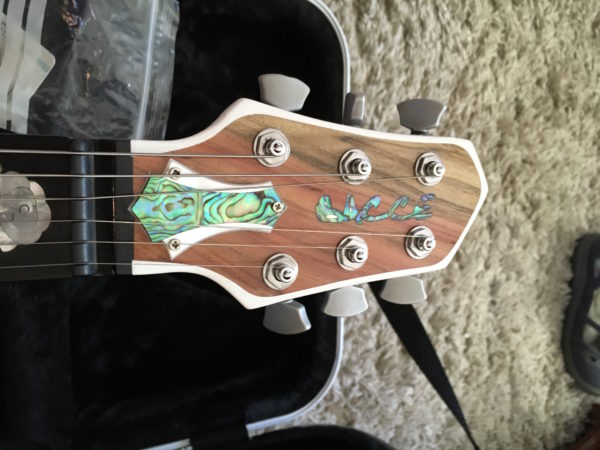 IMG 1831 600x450 - Bacce Occ6 The Woman Guitar Custom Model Korina Body/Pistachio Top