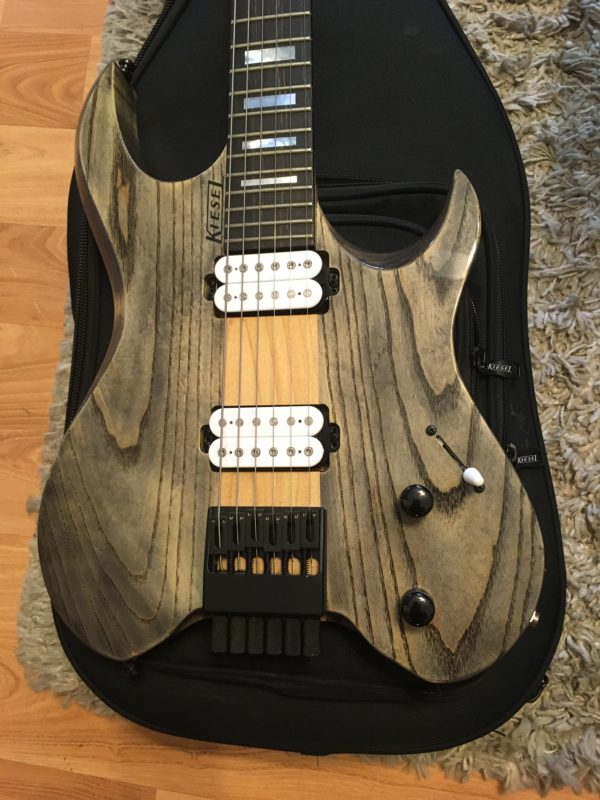 IMG 2171 e1566249414423 600x800 - Kiesel Vader 6 Headless Guitar Solid Swamp Ash Body 1-Piece Maple Neck