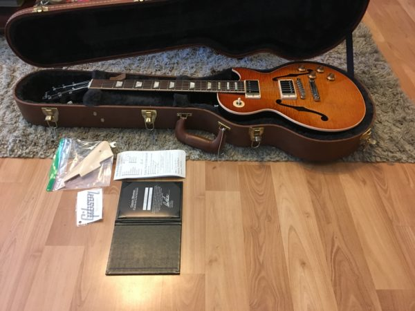 IMG 2299 600x450 - 2016 Gibson Memphis ES Les Paul Figured in a Faded Light Burst-Great Top-COA