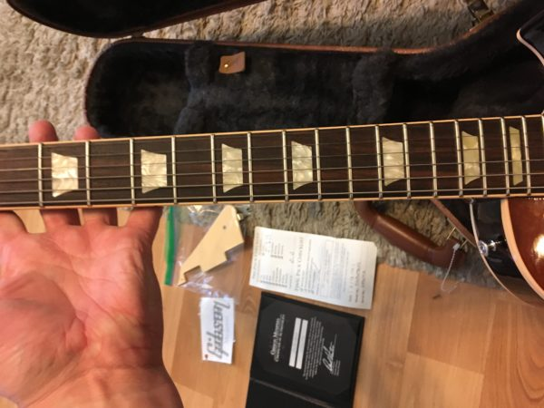 IMG 2303 600x450 - 2016 Gibson Memphis ES Les Paul Figured in a Faded Light Burst-Great Top-COA