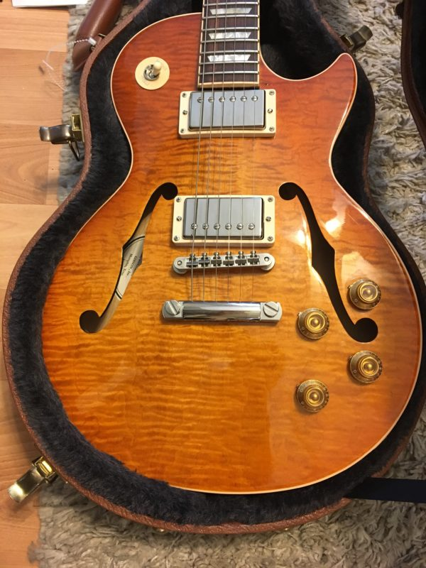 IMG 2308 e1567013189547 600x800 - 2016 Gibson Memphis ES Les Paul Figured in a Faded Light Burst-Great Top-COA