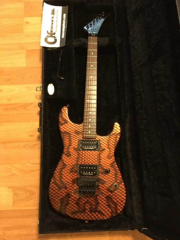 IMG 2413 e1569075949486 600x800 - 2005 Charvel USA San Dimas Copper Snakeskin Signed By Satriani & Paul Gilbert