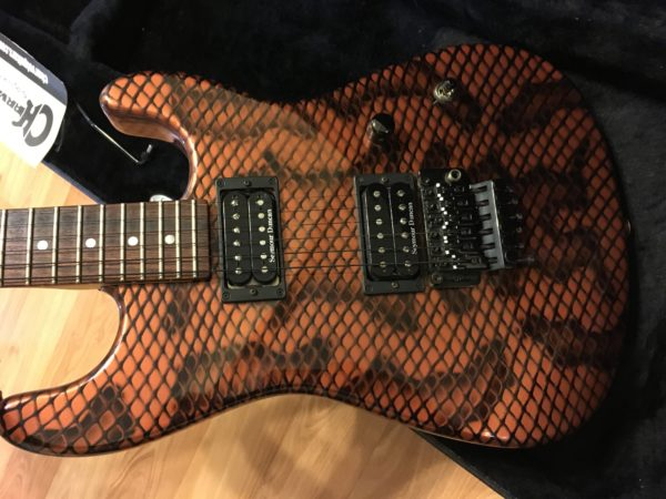 IMG 2426 600x450 - 2005 Charvel USA San Dimas Copper Snakeskin Signed By Satriani & Paul Gilbert