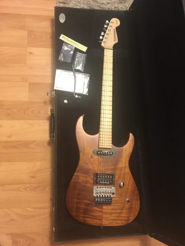 IMG 2526 e1570209653715 600x800 - Performance Custom Guitars Warren DeMartini Model 1-Off Solid Koa Guitar-Signed