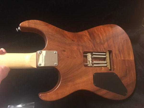 IMG 2531 600x450 - Performance Custom Guitars Warren DeMartini Model 1-Off Solid Koa Guitar-Signed