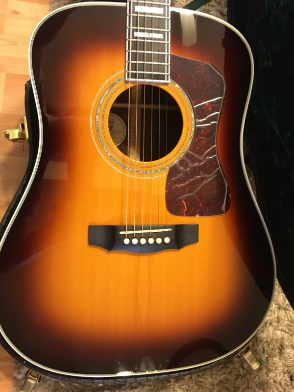 IMG 2944 e1573091876334 600x800 - Guild D-55  Antique Burst Acoustic Dreadnaught Guitar