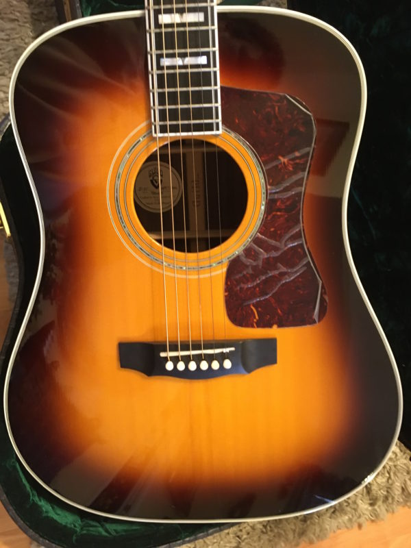 IMG 2949 600x800 - Guild D-55  Antique Burst Acoustic Dreadnaught Guitar