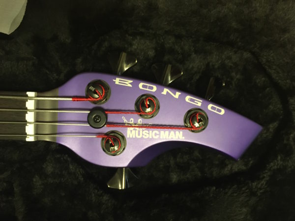 IMG 3189 600x450 - Ernie Ball Music Man Bongo 4 HH Firemist Purple Bass Guitar W/Hard Case/Hipshot