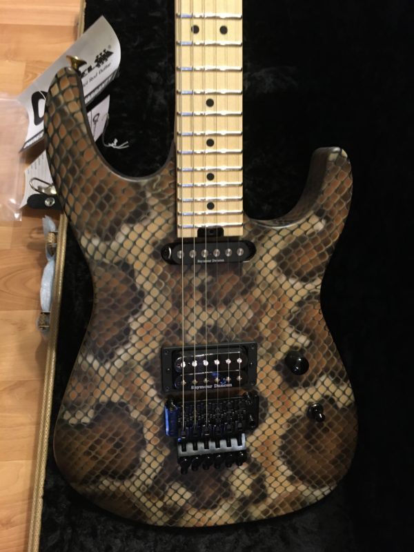 IMG 3418 600x800 - Brand New 2019 Charvel USA Warren DeMartini Signature Snakeskin Guitar