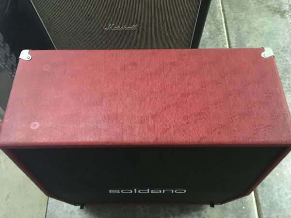 IMG 3625 scaled e1578623329875 600x450 - Soldano Hot Rod 50 Half Stack-Head-4x12 Cab Matching Red/Black Tolex