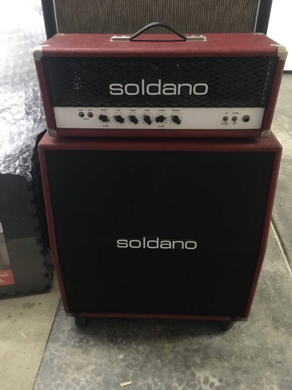 IMG 3627 600x800 - Soldano Hot Rod 50 Half Stack-Head-4x12 Cab Matching Red/Black Tolex
