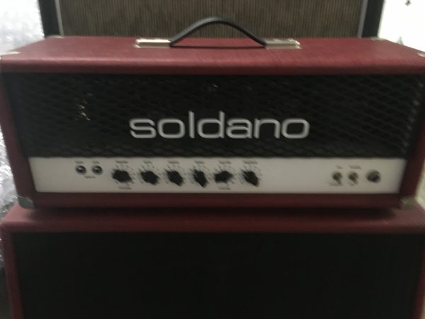 IMG 3628 600x450 - Soldano Hot Rod 50 Half Stack-Head-4x12 Cab Matching Red/Black Tolex