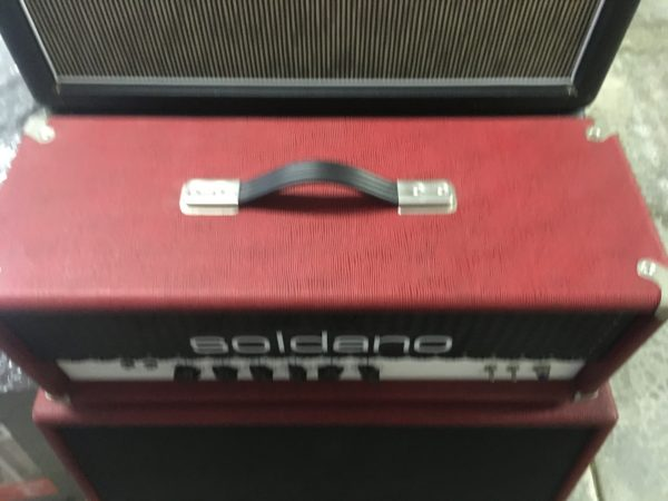 IMG 3629 600x450 - Soldano Hot Rod 50 Half Stack-Head-4x12 Cab Matching Red/Black Tolex