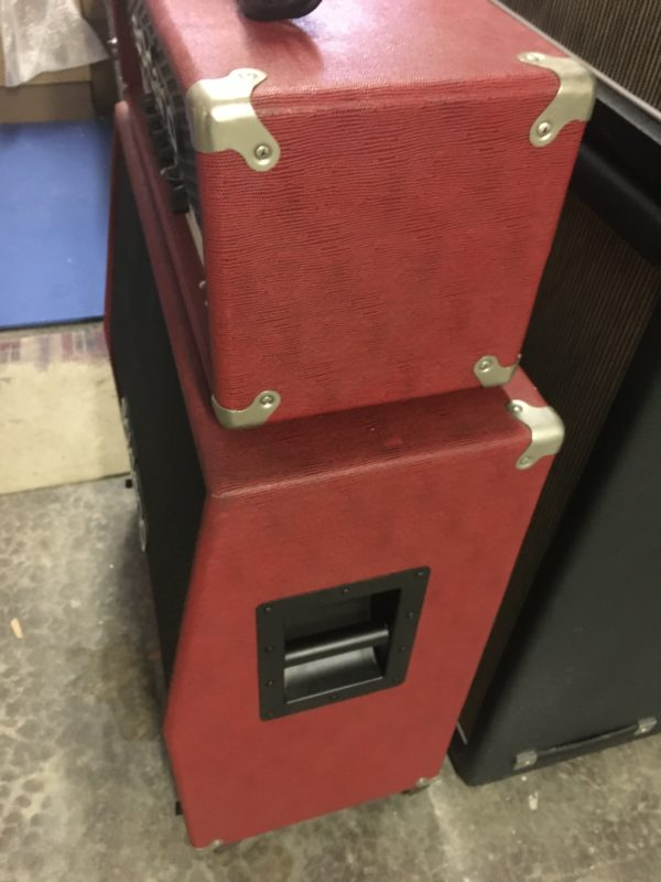 IMG 3635 600x800 - Soldano Hot Rod 50 Half Stack-Head-4x12 Cab Matching Red/Black Tolex