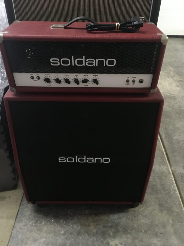 IMG 3636 600x800 - Soldano Hot Rod 50 Half Stack-Head-4x12 Cab Matching Red/Black Tolex