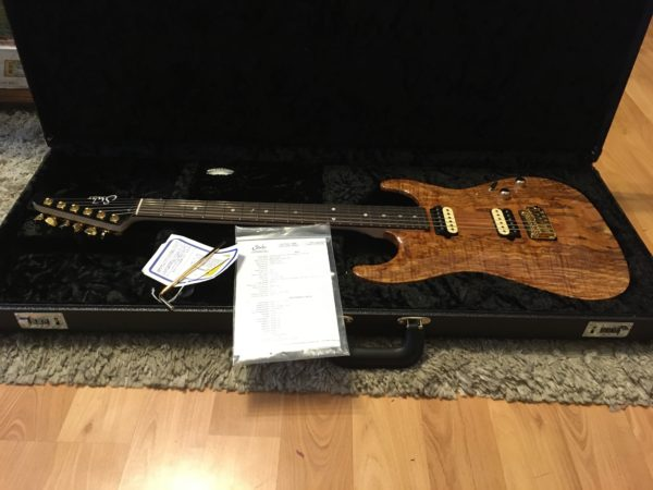 IMG 3714 600x450 - 2018 Suhr Carve Top Standard HH Spalted Maple Top-Indian Rosewood Board