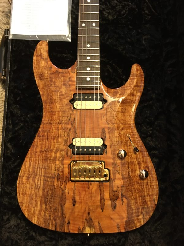 IMG 3716 600x800 - 2018 Suhr Carve Top Standard HH Spalted Maple Top-Indian Rosewood Board