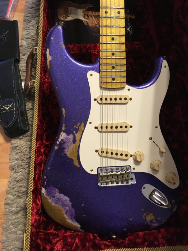 IMG 3729 600x800 - 2017 Fender Custom Shop 1957 Heavy Relic Purple Sparkle Strat